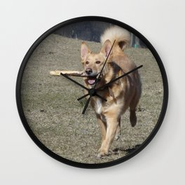 Running Dog Wall Clock
