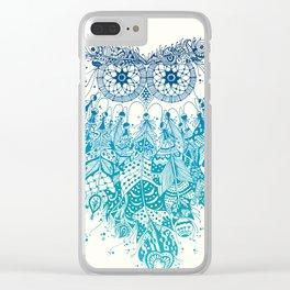Blue Dream Catcher Clear iPhone Case