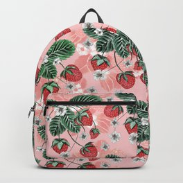 Cute Strawberry Pattern Backpack