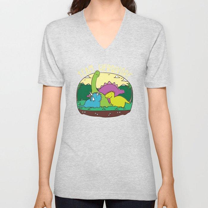 98ee85fb28 Team Herbivore T-Shirt Kids Vegan Dinosaur Veggie Cute Sweet Vegetarian  Gifts Funny Vegans Unisex V-Neck