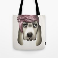 butcher billy Tote Bags featuring Billy by Giada Engelke-Oelbracht