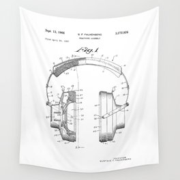 Headphones Patent Wall Tapestry