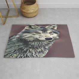 The Tundra Wolf Rug