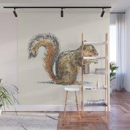 Sitting Squirrel Wall Mural