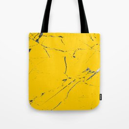modern yellow marble looks Tote Bag