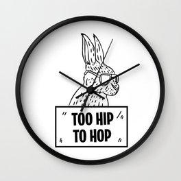 Easter Bunny Hop hobbling fun gift Wall Clock