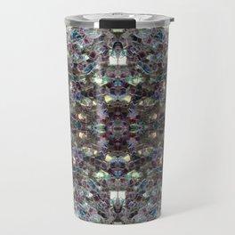 Sparkly colourful silver mosaic mandala Travel Mug