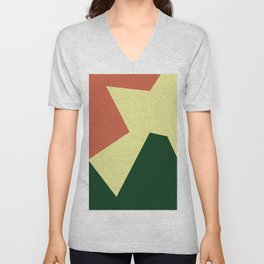 Minimalism Abstract Colors #18 Unisex V-Neck
