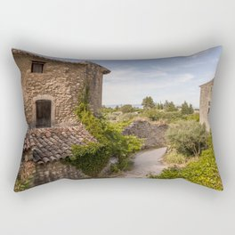 Ancient Buildings In Provence Rectangular Pillow