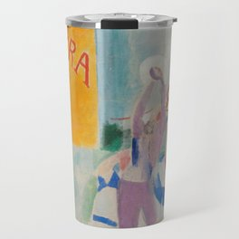 """Robert Delaunay """"Astra"""" (also known as Study for """"The Football Players of Cardiff"""") Travel Mug"""
