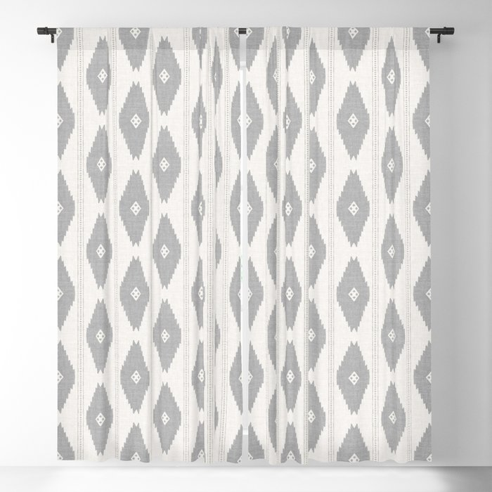 ZHI DIAMOND GREY Blackout Curtain