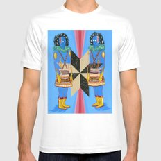 SPACE GODS White Mens Fitted Tee MEDIUM