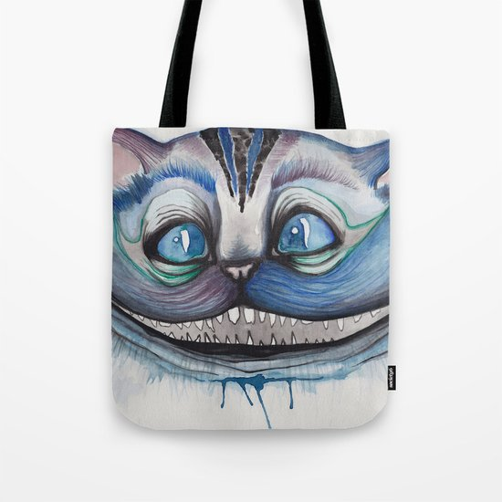 Cheshire Cat Grin Alice In Wonderland Tote Bag By Mille