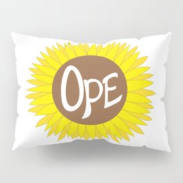 Hand Drawn Ope Sunflower Midwest Pillow Sham