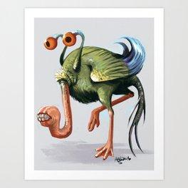 Leggyslug Art Print