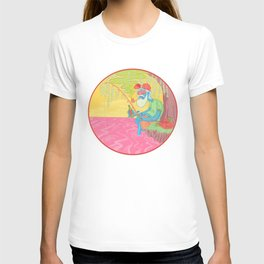 fisherman by the river T-shirt