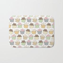 Cupcake Love Pattern -Food Pattern Bath Mat