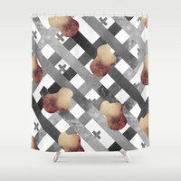 silver Shower Curtains featuring SILVER by Bárbara