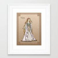 valar morghulis Framed Art Prints featuring Vana by wolfanita