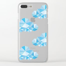 Diamond Clouds in the Sky Pattern Clear iPhone Case