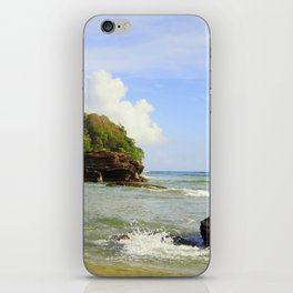 Caribbean beach morning iPhone Skin
