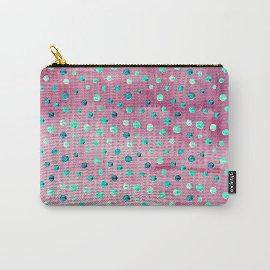 Polka Dot Pattern 08 Carry-All Pouch