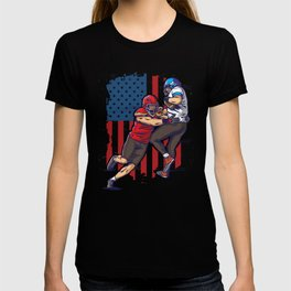 Two Football Player In Action T-shirt