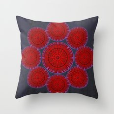 rashím towers gallery mandala Throw Pillow