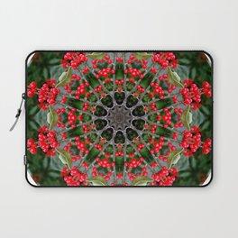 Winterberry holly, Ilex verticillata, mandala/kaleidoscope. Laptop Sleeve