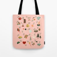 alphabet Tote Bags featuring Alphabet by The Midnight Rabbit