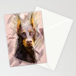 Doberman (Low Poly) Stationery Cards