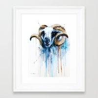 sheep Framed Art Prints featuring Sheep by Slaveika Aladjova