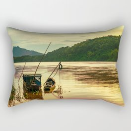 Sunset over the Mekong River Rectangular Pillow
