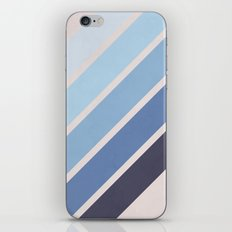 Blue Color Drift iPhone & iPod Skin