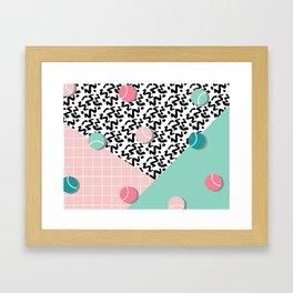 Tennis Pattern #society6 #decor #buyart Framed Art Print