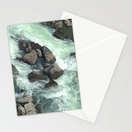 Rocks in stream Stationery Cards
