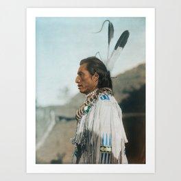 Crow's Heart - Mandan - American Indian Art Print