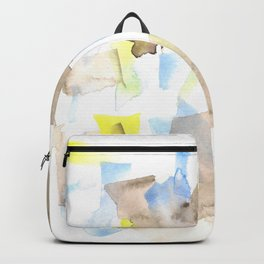 180515 WATERCOLOUR ABSTRACT WP 18  Watercolor Brush Strokes Backpack