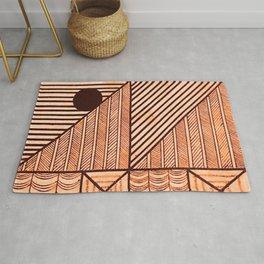 Savage Tribe Ancient Geometric Pattern Rug