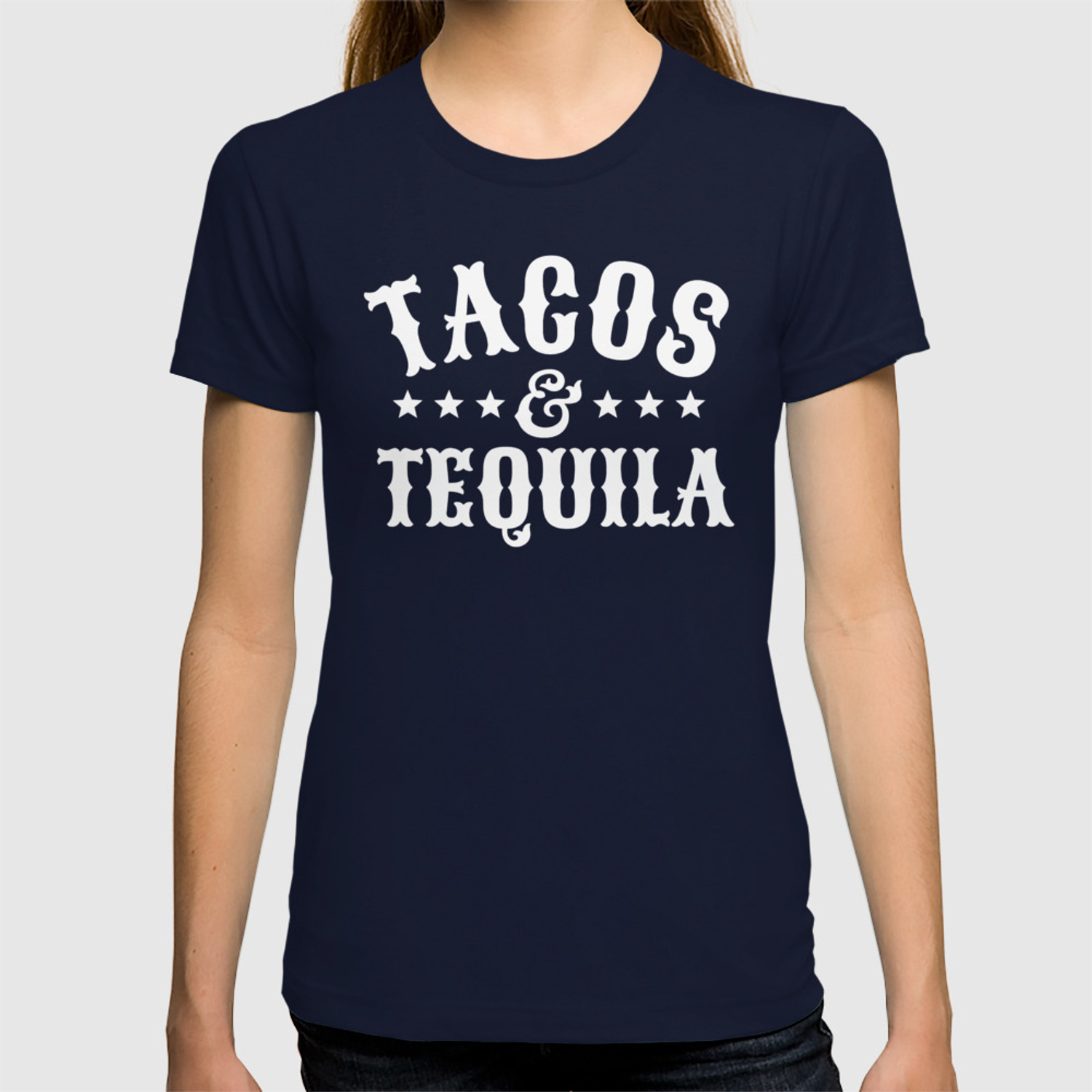c28c0a6f3 Tacos & Tequila (Orange) T-shirt by creativeangel | Society6