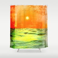 christopher walken Shower Curtains featuring Christopher Columbus 1492 by Phil Perkins