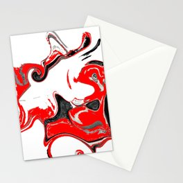contradiction abstract digital painting Stationery Cards