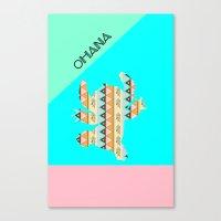stitch Canvas Prints featuring stitch  by Vanessa Tanadi