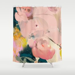 abstract floral inspiration Shower Curtain