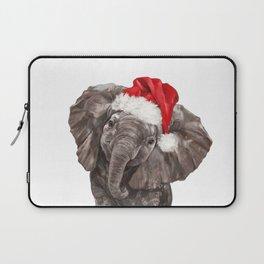 Christmas Baby Elephant Laptop Sleeve