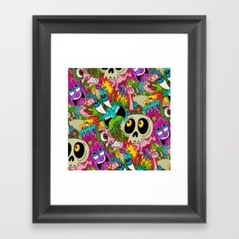 Puke Pattern Framed Art Print
