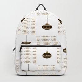 Golden Christmas balls Backpack