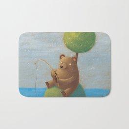 Fisherman Bear Bath Mat