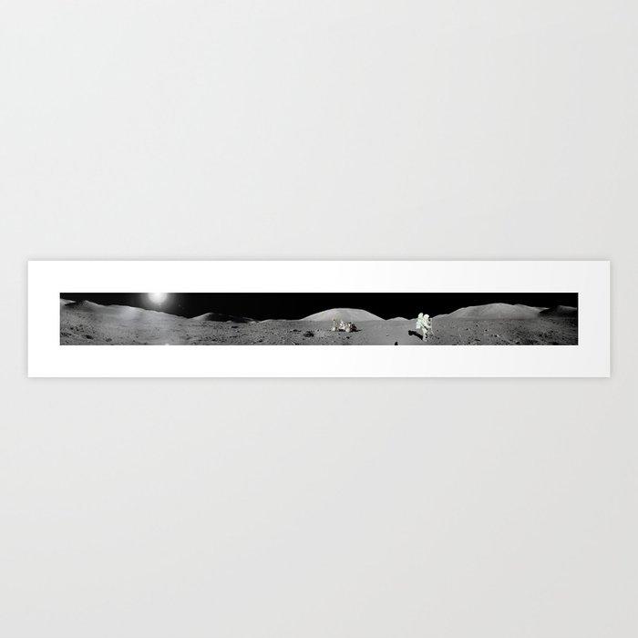 Apollo 17 Moon Panorama Kunstdrucke