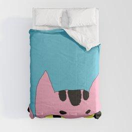 Alien Cat High Five Hello Pop Art Comforters